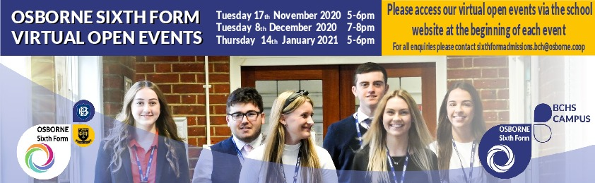 Sixth form bchs virtual events